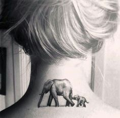 Elephants mean strength and strong family bonds. Get an elephant tattoo if you would die and kill for your family.