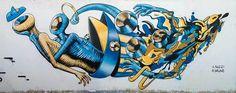 Gods in love, live painting for mais+ street art , Andria. #godsinlove #streetart @greatstreetart www.godsinlove.com