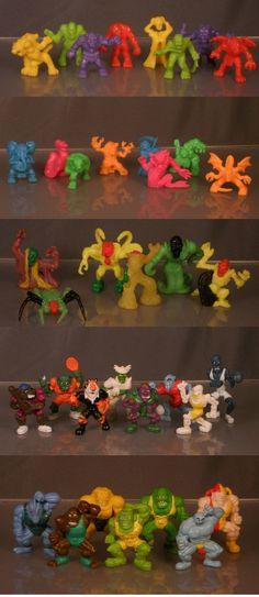Monstruos de plásticos. DE diferentes colecciones.