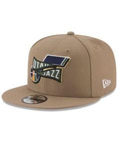 713734c840a New Era Utah Jazz Team Banner Snapback Cap - Tan Beige Adjustable