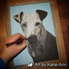 New portrait on the easel ìntroducing Katy-Boo.