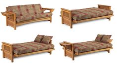 The Mead Convertible Wood Futon Chair Medium Oak By American Furniture Alliance 199 26 Easy Sofa To Sleeper Conversion Wide Flat Armrest Eas