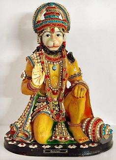 Hanuman - Great Devotee of Lord Rama (Poly Resin) Hanuman Pics, Hanuman Images, Shri Hanuman, Durga, Hanuman Ji Wallpapers, Hanuman Wallpaper, Krishna Art, Lord Krishna, Radhe Krishna