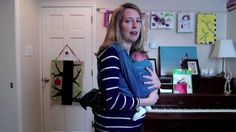 Woven Wrap: NB- Great tips for extra head support and tightening up wrap. However, not a fan of spreading babies legs so early.