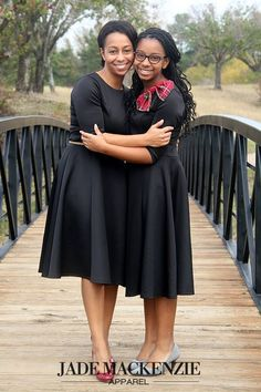 Mommy & daughter matching in their JM Bella dresses! #modestapparel #jademackenzieapparel  http://www.jademackenzie.com