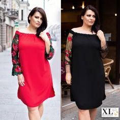 fc45d5d9ed Czarna sukienka hiszpanka z koronką - MIRELLA - PLUS SIZE XL-ka