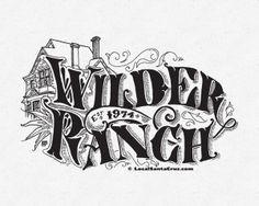 Typographic illustrations designed to celebrate the history of Santa Cruz California. History Of Santa, Santa Cruz California, Typography Served, Behance, Design Inspiration, Victorian, Illustration, Illustrations