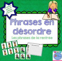 FRENCH scrambled sentences/Phrases en désordre {La rentrée}