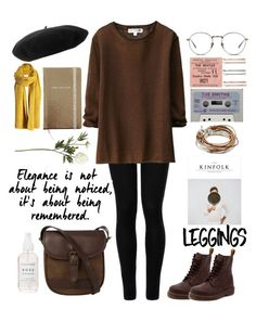 """""""Little Brownie"""" by nabilci on Polyvore featuring Wolford, Uniqlo, Dr. Martens, Lizzy James, Gucci, Madewell, Kate Spade, Linda Farrow, DUBARRY and Crate and Barrel"""
