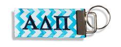 Alpha Delta Pi Chevron key fob $12.00 www.sassysorority.com #Chevron #Sororitygifts #ADPI