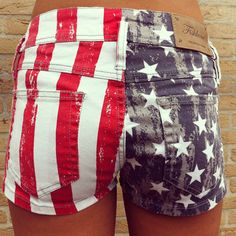 Wantwantwantwant Red,White Blue shorts for the summer! 4th of July clothes.