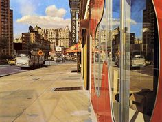 Richard Estes hyperrealism...makes me happy despite the B++ Art History paper in college. Seriously? two pluses? how is that not an A-?? Mysteries of life.
