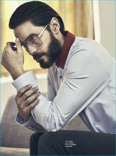 Jared Leto wears a look from Gucci with Carrera eyewear for GQ México.