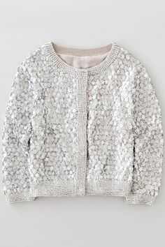 Boden Silver Sequin Cardigan. Yes please!
