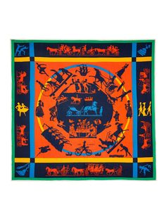 "Hermes ""Jeux d'Ombres"" Silk Fluid Jersey Scarf 90cm by Hermès at Gilt"