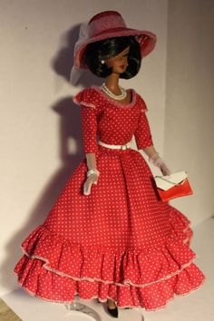OOAK outfit fashion for Silkstone, Vintage Barbie