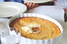 """SWEET CORN PUDDING: ~ From: Foodista.Com ~ Recipe Courtesy of """"Chef John Besh."""" ~ The cooking time of this savory pudding will vary greatly depending upon how hot the mixture is when it goes into the oven. You can make the corn mixture up to a day in advance, refrigerate, and then bake just before serving.  ~ This recipe is from My Family Table: A Passionate Plea for Home Cooking by Chef John Besh."""