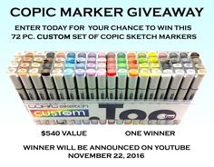 http://upvir.al/ref/d4034230 use this web link to sign up for the copic markers giveaway!! Ends November 16, 2016!!
