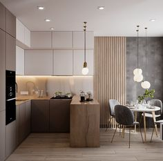 Kitchen Room Design, Home Room Design, Modern Kitchen Design, Home Decor Kitchen, Interior Design Kitchen, Small Apartment Interior Design, Kitchen Ideas, Condo Design, Kitchen Contemporary