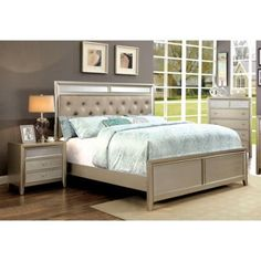 Furniture of America Maire 2 Piece Queen Bedroom Set in Silver 15 Master Bedroom Ideas for Small Rooms on a Budget - Style Spacez Kids Bedroom Sets, Kids Bedroom Furniture, King Furniture, Kitchen Furniture, Bedroom Ideas, Furniture Online, Furniture Outlet, Rustic Furniture, Office Furniture