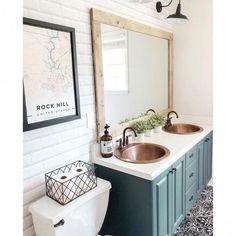 Install Bathroom Sink, Double Sink Bathroom, Diy Bathroom Remodel, Bathroom Sink Vanity, Bathroom Renovations, Small Bathroom, Bathroom Ideas, Bathroom Flooring, Master Bathrooms