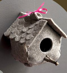 this felt/fabric bird house is too cute! I think I need to make some.