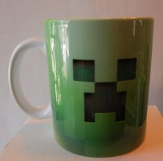 CREEPER FACE With Personalized Name 11 oz. Ceramic Mug Inspired By Popular Game Great For The Gamer In The Family