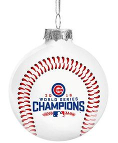 9fccd0b595 Chicago Cubs 2016 World Series Champions Glass Ball Ornament