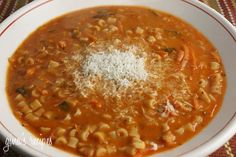 Pasta Fagioli (Pasta and Beans) - great tasting, thick, hearty Italian soup.