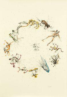 Salvador Dali. The Twelve Signs of the Zodiac. 13 Origi : Lot 36040