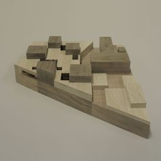 DRDH Architects | Kortrijk Library / Belgium, 2008 Wood Architecture, Architecture Portfolio, Concept Architecture, Plan Sketch, Arch Model, Learn Art, Architectural Models, Plans, Wood Blocks