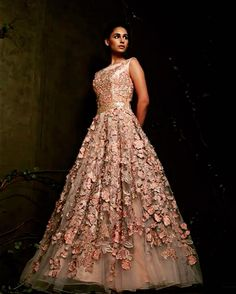 Indian Reception Outfit, Reception Gown, Indian Wedding Outfits, Indian Gowns Dresses, Formal Dresses, Dress Outfits, Dress Up, Half Saree Designs, Engagement Dresses