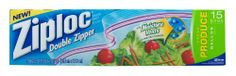 Ziploc Fresh Produce Bag, 15-Count(Pack of 3) by Ziploc. $9.87. Ziploc Fresh Produce Bag have moisture vents that help control the amount of moisture inside.