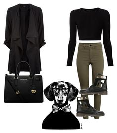 """""""black"""" by ntimarkuxxx on Polyvore featuring H&M, See by Chloé, Cushnie Et Ochs, MICHAEL Michael Kors and HUGO"""