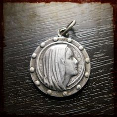 Vintage Religious french medal of Virgin Mary