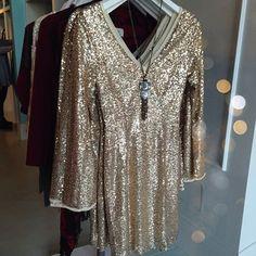 Gold sequin dress #swoonboutique