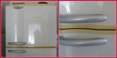 Tirando amarelado de eletrodomésticos: 1 colher de água para 4 colheres de bicarbonato de sódio. Você pode aumentar a quantidade de forma proporcional, caso a área de limpeza seja maior. Faça uma pasta misturando a água e o bicarbonato e espalhe com as mãos mesmo sobre as manchas que deseja clarear. Deixe agir por cerca de 30 minutos e, em seguida, esfregue com uma esponja macia para evitar riscos e retire o excesso com um pano macio e limpo.