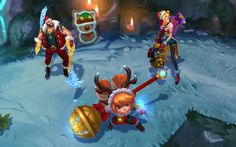 """Who can resist them? #snowdown #jinx #draven #poppy"""