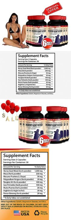 Appetite Control Suppressants: Sexual Enhancer - Horny Goat Weed 1000Mg - Tongkat Ali - 6 Bot 360 Ct -> BUY IT NOW ONLY: $59.95 on eBay!