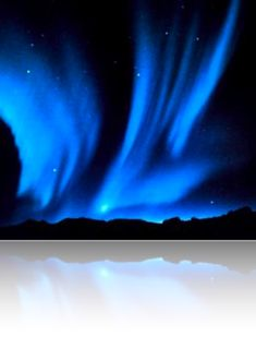 Blue Aurora Borealis ~ a reminder of the powerful blue energy of the buddha Aksobhya