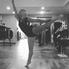 When our employees break out into ballet! She is practicing her arabesque in a lace detailed bodysuit! #oytdancewear #oytfam 👯👯