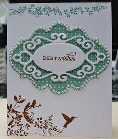 Hummingbird Best Wishes    Labels 20 spellbinders