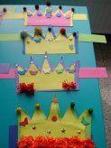 Fotogalerij > .. > 1ste leerjaar > een verjaardagskroon knutselen : Content
