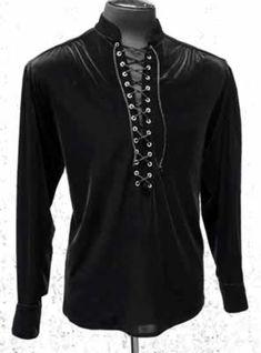 0edef89f96857 Shrine - MARQUIS SHIRT - BLACK VELVET Steampunk Clothing