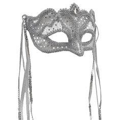 silver mardi gras masks | Masquerade Ball Silver Mardi Gras Eye Mask With Tassels | eBay