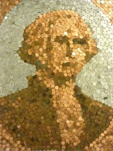 One-of-a-kind coin art! You could do this to create any picture... if you're patient enough! #coins
