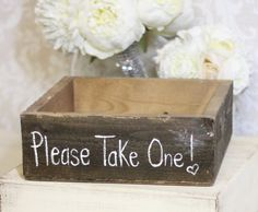 Rustic Wedding Favors Box