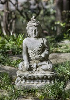 Seated Lotus Buddha Garden Statue