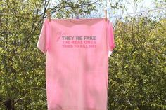 Yes they're fake...   Breast Cancer by Nestingproject on Etsy