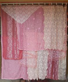 Miss Havisham bohemian gypsy shower curtain handmade by Babylon Sisters.  New polyester fabric shower curtain carefully sewn with layers of